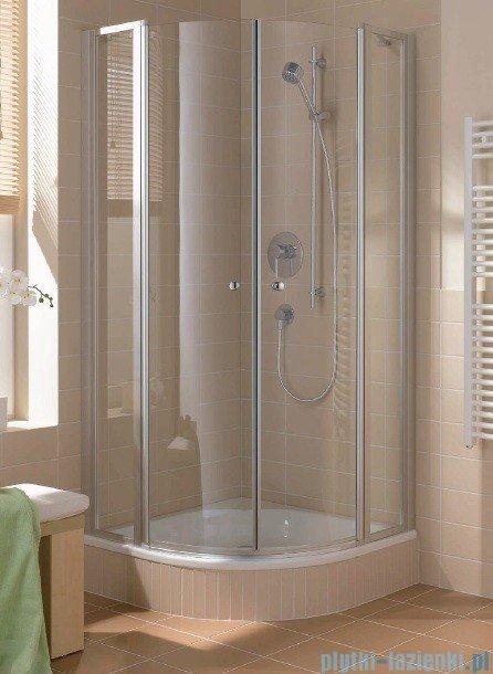 Kermi Cada Kabina ćwierćkolista z drzwiami wahadłowymi, szkło przezroczyste CadaClean 80x80cm CAP4808018VPK