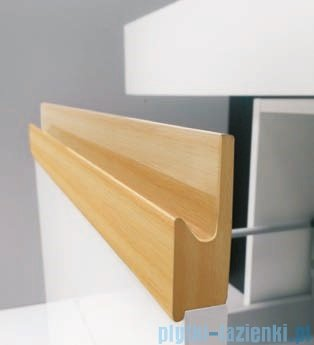 Antado Combi szafka prawa z blatem i umywalką Conti biały/jasne drewno ALT-141/45-R-WS/dn+ALT-B/4C-1000x450x150-WS+UCT-TP-37x59