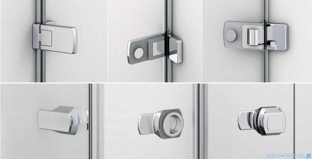 Sanswiss Melia ME31P Drzwi ze ścianką w linii lewe 120x200cm przejrzyste ME31PG1201007