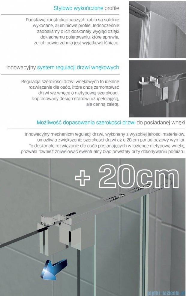 New Trendy Scalia drzwi prysznicowe 70-90cm przejrzyste EXK-1185
