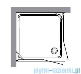 Kerasan Retro Kabina kwadratowa szkło dekoracyjne piaskowane profile brązowe 90x90 9145P3