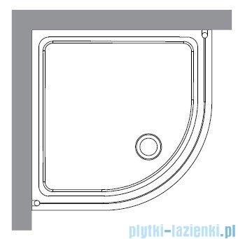 Kerasan Kabina półokrągła, szkło piaskowane profile chrom 90x90 Retro 9151S0
