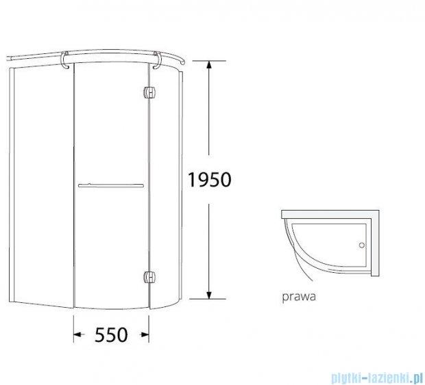 Sea Horse Sigma kabina natryskowa narożna Klio prawa 120x85 szkło: brązowe,   BK261BP