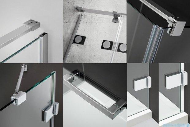 Radaway Euphoria KDD Kabina prysznicowa 100x100 szkło przejrzyste + brodzik Delos C + syfon 383062-01L/383062-01R/SDC1010-01