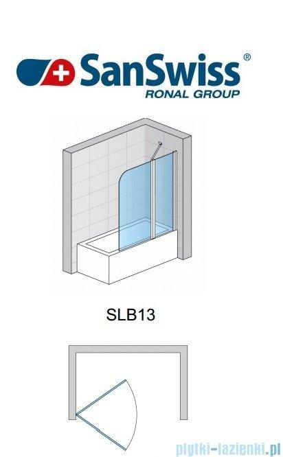 SanSwiss Swing Line SLB1 Parawan 1-częściowy 70cm profil połysk Prawy SLB1D07005007