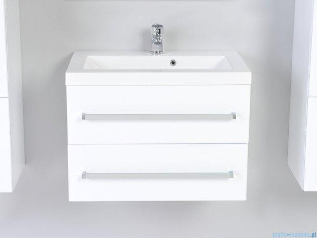 Antado Variete szafka z umywalką, wisząca z dwiema szufladami 60x39x40 biały połysk FM-C-442/6/2 + UMMC-600X390