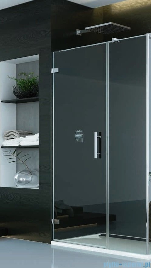 SanSwiss Pur PU31P Drzwi lewe wymiary specjalne do 200cm cieniowane czarne PU31PGSM41055