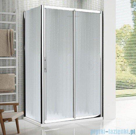 Novellini Drzwi prysznicowe przesuwne LUNES 2P 132 cm szkło przejrzyste profil srebrny LUNES2P132-1B