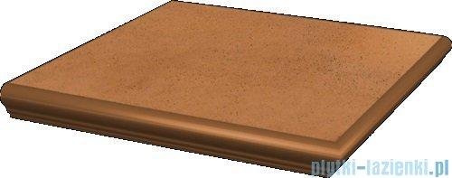Paradyż Aquarius brown klinkier stopnica z kapinosem narożna 33x33