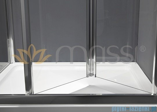 Massi Case drzwi prysznicowe składane 80x185 cm przejrzyste MSKP-FA920-80