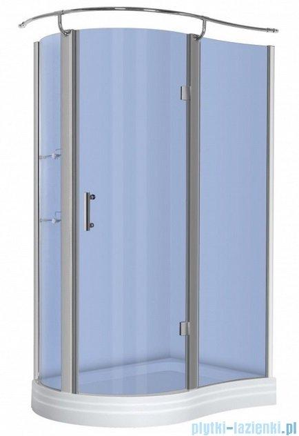 NOVOTERM kabina prysznicowa prawa szkło: niebieskie 120x90 NERO Prawa N
