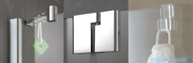Kermi Pasa XP Parawan nawannowy z pole stałym, lewy, szkło przezroczyste, profil srebro mat 80x150 PXDTL080151AK