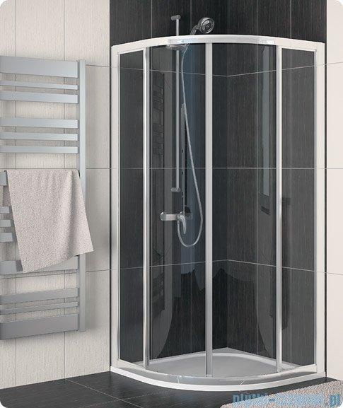SanSwiss Eco-Line Kabina półokrągła Ecor 100cm profil biały szkło przejrzyste ECOR501000407