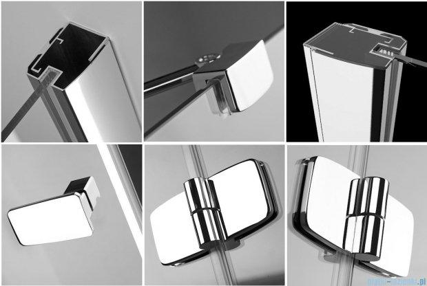Radaway Kabina prysznicowa Fuenta KDJ+S 80x80x80 lewa szkło przejrzyste + Brodzik Argos C + syfon 381031-01L1 / 381031-01L2