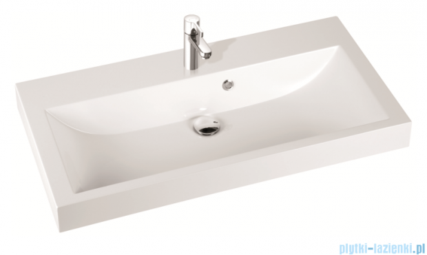 Marmorin umywalka nablatowa Argo 100 cm z otworem biała 290100022011