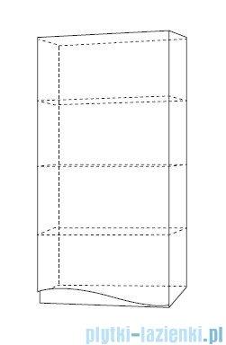 Antado Wave szafka wisząca prawa 40x20x80cm grafit mat VA-119R-U164