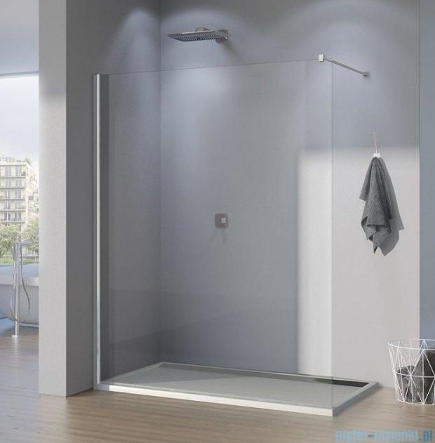 SanSwiss Pur PDT4P Ścianka wolnostojąca 90cm profil chrom szkło Pas satynowy PDT4P090151