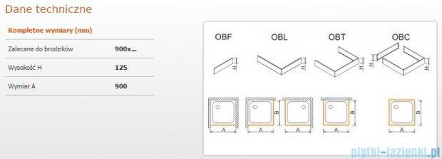 Sanplast Obudowa frontowa do brodzika OBF 90x12,5 cm 625-401-0320-01-000