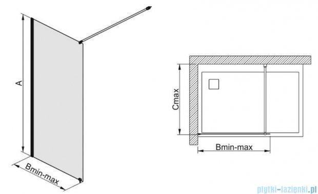 Sanplast kabina prysznicowa narożna typu Walk In  P/FREE-80 przejrzyste 600-260-0420-42-401