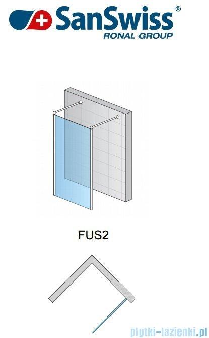 SanSwiss Fun Fus2 Ścianka wolnostojąca 90cm profil połysk FUS209005007