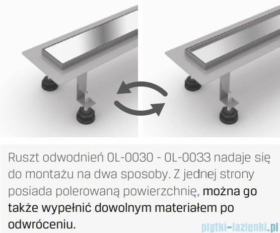New Trendy Axo 100x10x7 cm odpływ liniowy z rusztem dwustronnym OL-0033