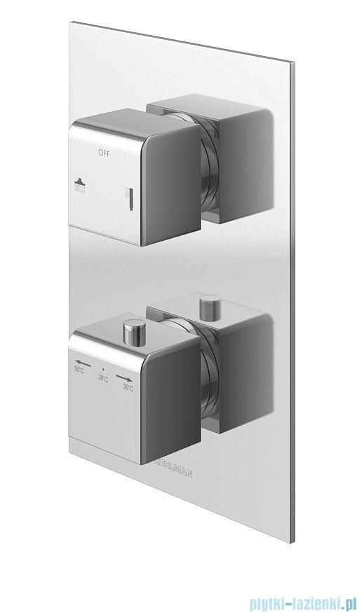 Kohlman Excelent zestaw prysznicowy z baterią termostatyczną chrom QW432HQ30