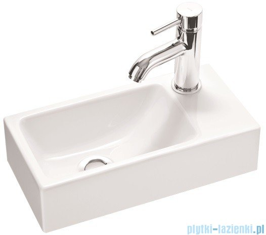 Marmorin umywalka nablatowa Elara 3 z otworem 40cm biała 410040020011