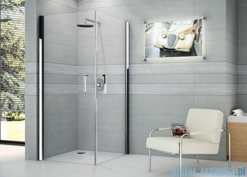 Novellini Ścianka prysznicowa GIADA 2G 69 cm lewa szkło przejrzyste profil biały GIADN2G69LS-1A