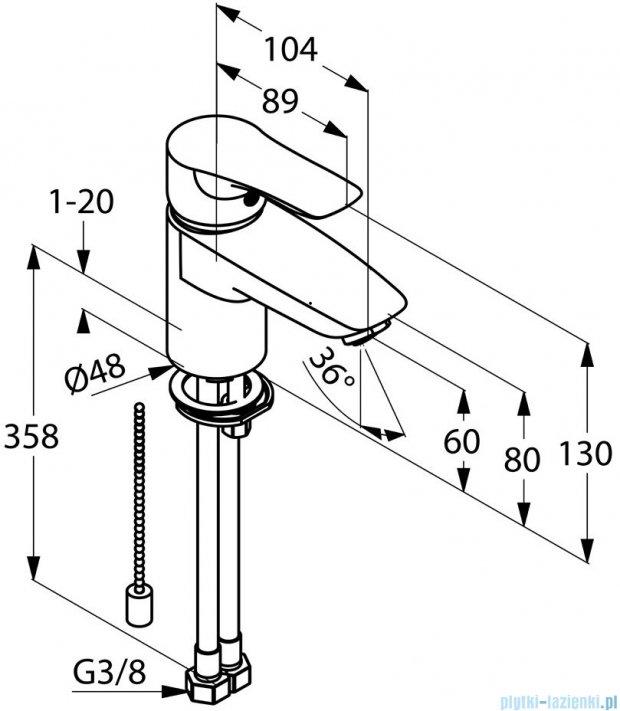 Kludi Tercio Jednouchwytowa bateria umywalkowa DN 10 chrom 384800575