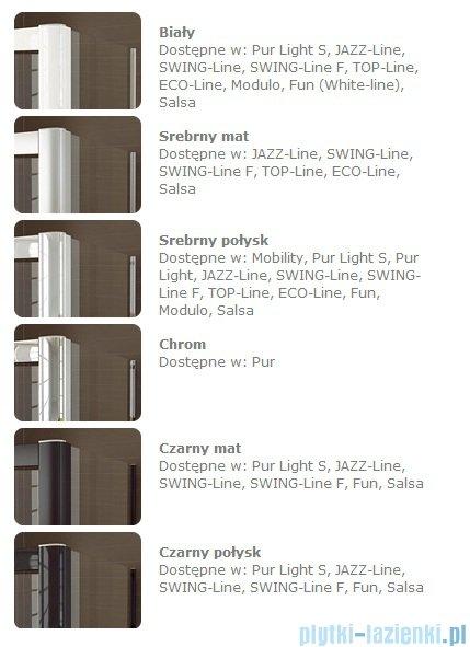 SanSwiss Swing Line F SLF1 Drzwi dwucześciowe 80cm profil połysk Lewe SLF1G08005007
