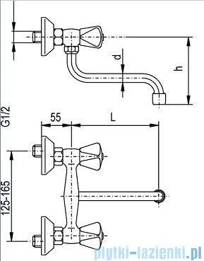 KFA STANDARD Bateria zlewozmywakowa ścienna 300-410-00