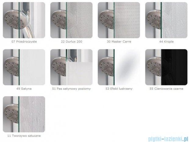 SanSwiss Pur PURB Parawan nawannowy 1-częściowy 85cm profil chrom szkło Durlux 200 Lewy PURBG08501022
