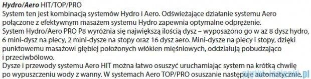 Riho Geta Wanna asymetryczna 170x90 lewa z hydromasażem HIT Hydro 6+4+2/Aero11 BA89H3