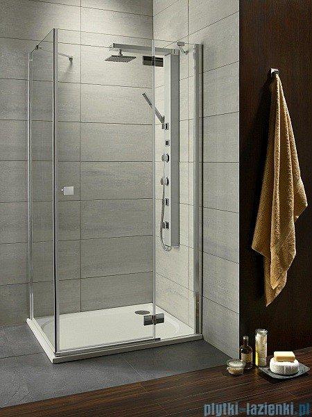 Radaway Kabina prysznicowa Almatea KDJ 120x90 prawa szkło przejrzyste + brodzik Doros D + syfon 32144-01-01NR