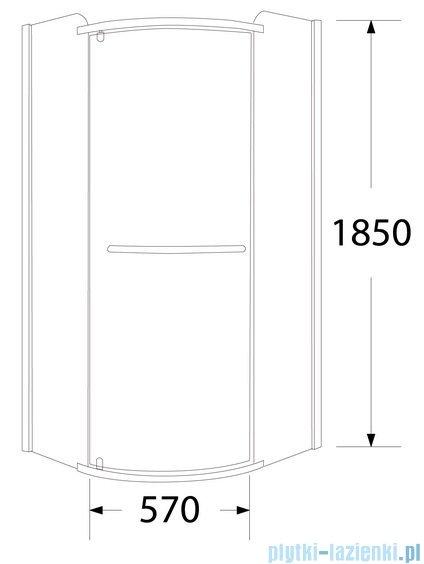 Sea Horse Sigma kabina natryskowa narożna półokrągła lewa, 80x80, szkło Moon BK001/3/RML