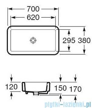 Roca Element Umywalka nablatowa 70x38cm powłoka Maxi Clean A32757200M