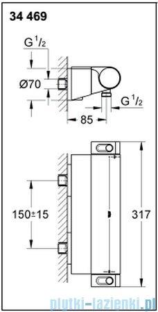 Grohe Grohtherm 2000 NEW bateria prysznicowa z termostatem DN 15 34469001