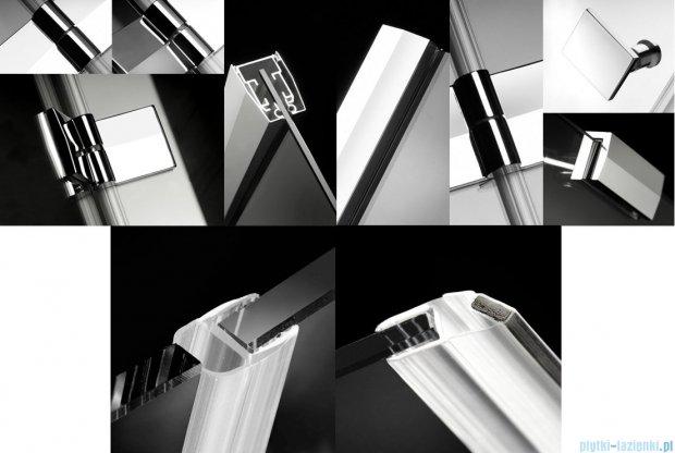 Radaway Almatea DWJ Drzwi wnękowe 100 Lewe szkło przejrzyste + Brodzik Delos C 100 + syfon 31202-01-01N