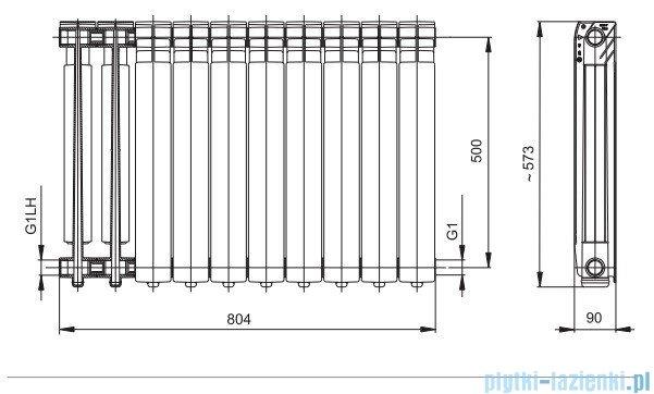 KFA grzejnik aluminiowy G 500 F kolor biały, członowy 789-100-44