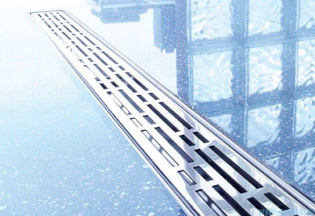 Tece Ruszt prosty Basic ze stali nierdzewnej Tecedrainline 90 cm stal szczotkowana 6.009.11