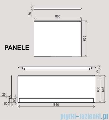 Ravak Panel boczny do wanny You 85 P CZ01110A00