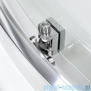 New Trendy Varia półokrągła 80x80x185 cm szkło natura K-0166