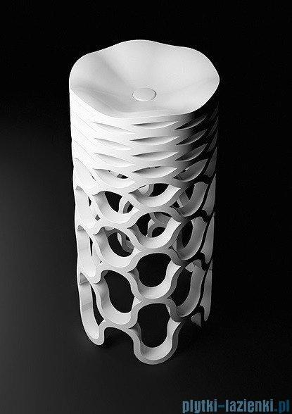 Marmorin umywalka stojąca Sirona biała 46x46x90 cm P500047020510