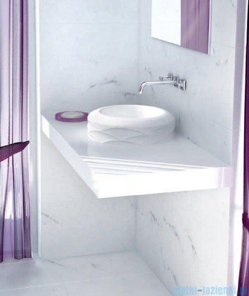 Marmorin umywalka nablatowa Kore bez otworu biała  490040020010