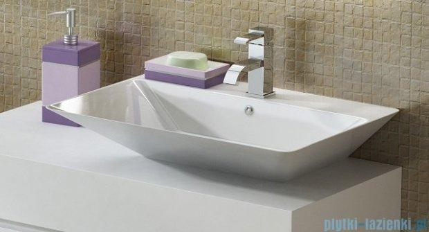 Antado Combi szafka prawa z blatem prawym i umywalką Libra biały/ciemne drewno ALT-141/45-R-WS/dp+ALT-B/3R-1000x450x150-WS+UCS-TC-66