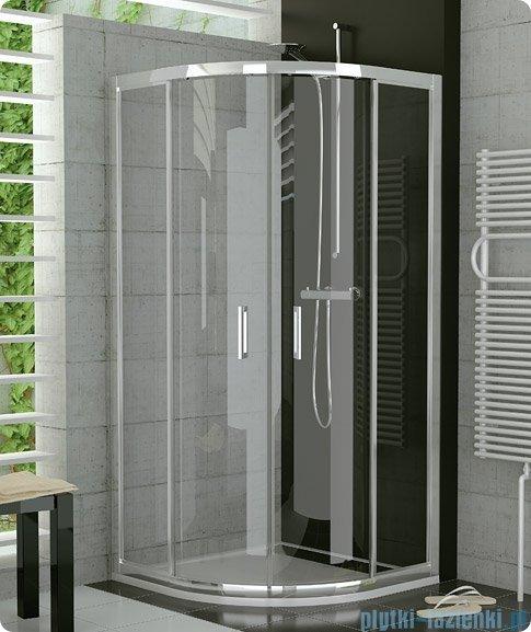 SanSwiss Top-Line TOPR Kabina prysznicowa półokrągła 90-120cm profil srebrny TOPR50SM20107