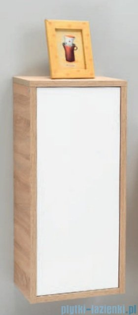 Antado Grande słupek niski z blatem lewy 40x32x90cm dąb Sonoma+biały GR-165L-3025/WS