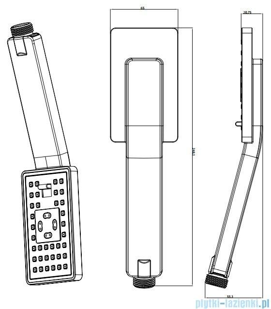 Omnires słuchawka prysznicowa 3-funkcyjna chrom JIMJIM-R