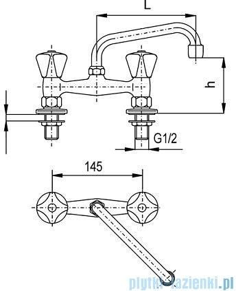 KFA STANDARD Bateria umywalkowa stojąca dwuotworowa dł. 200 mm 301-551-00