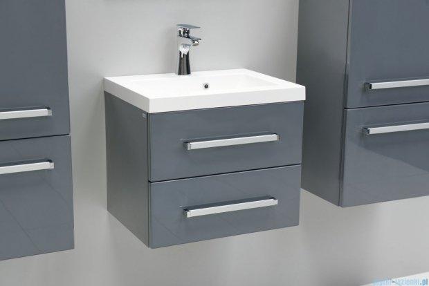 Antado Variete szafka z umywalką, wisząca z dwiema szufladami 50x39x40 szary połysk FM-C-442/5/2-K917 + UMMC-500X390